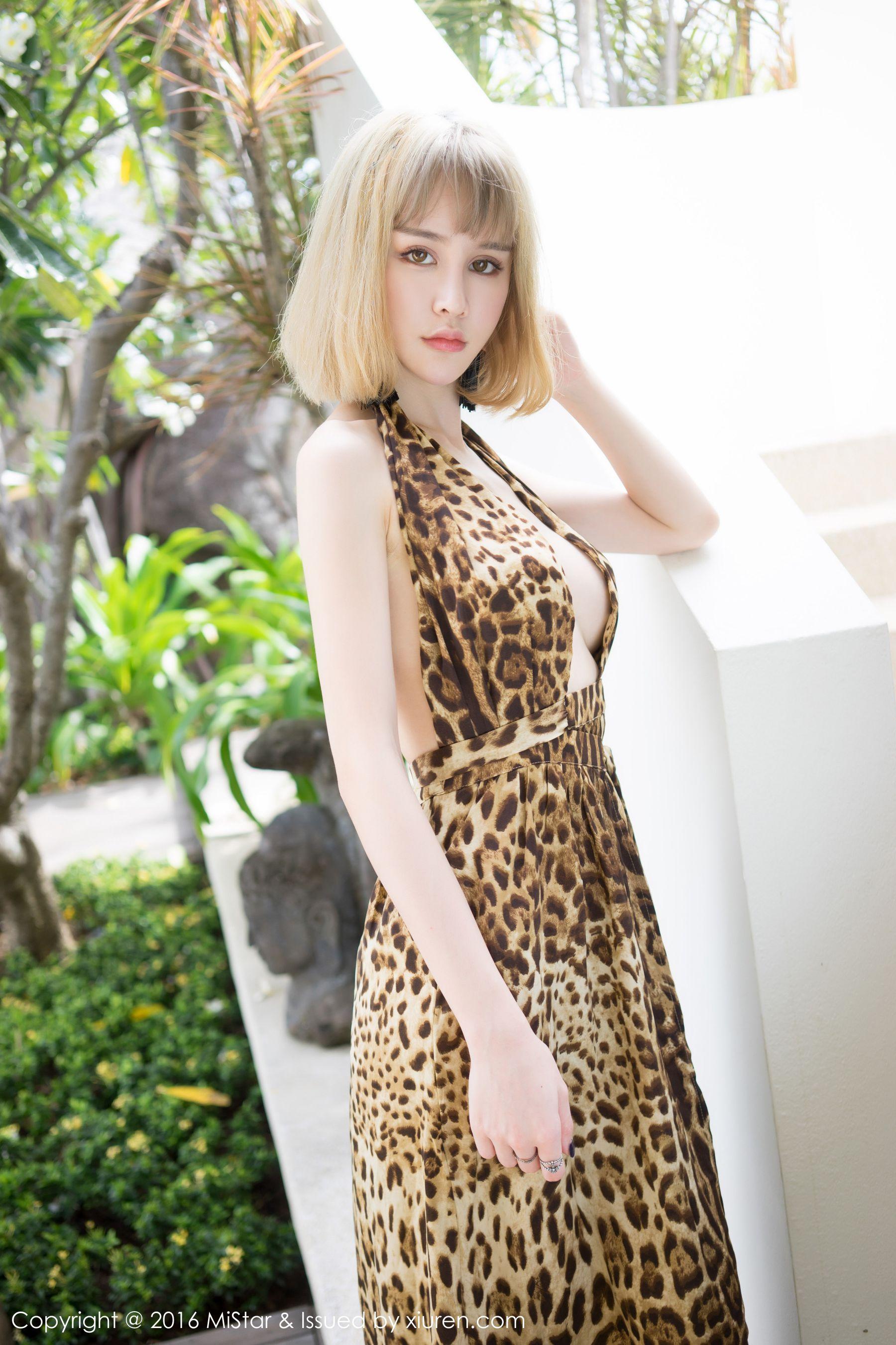 Cheryl青树性感豹纹吊带裙+气质长裙-第6张图片-哔哔娱乐网